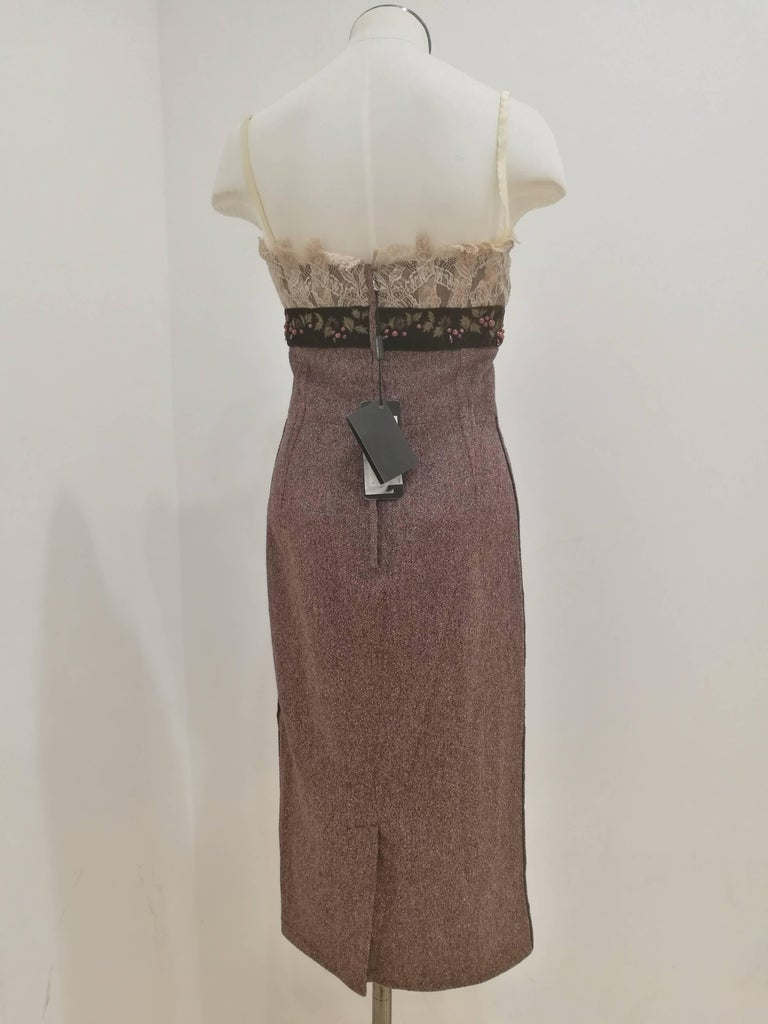Dolce & Gabbana light purple wool Dress NWOT In New Condition For Sale In Capri, IT