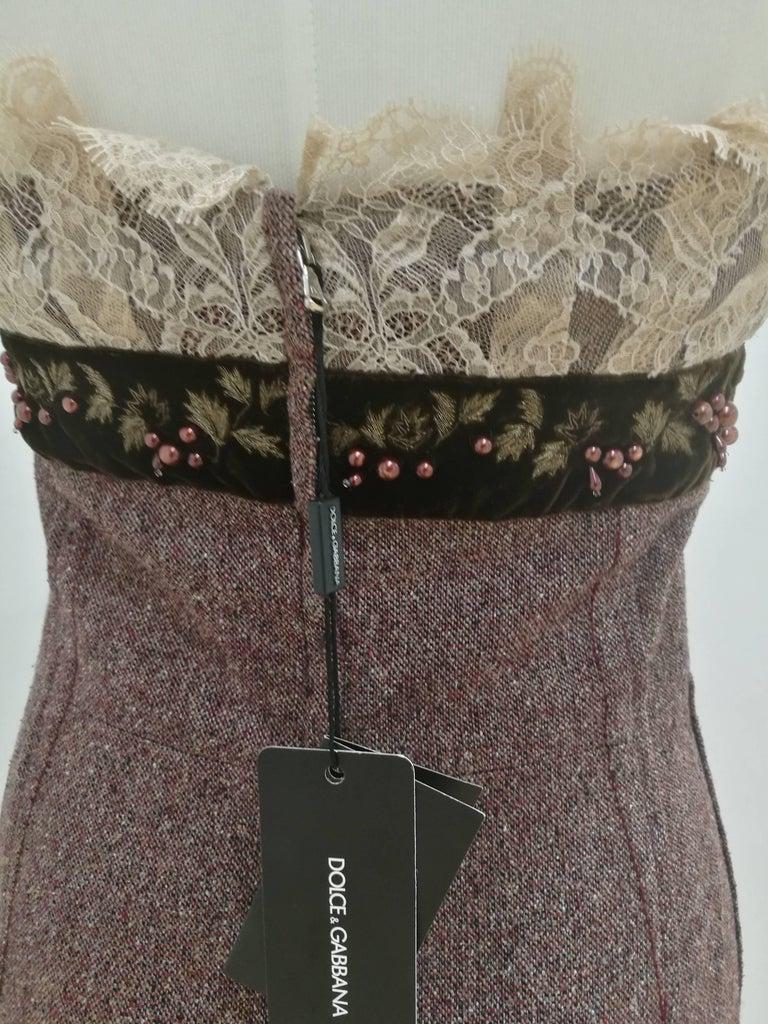 Women's or Men's Dolce & Gabbana light purple wool Dress NWOT For Sale