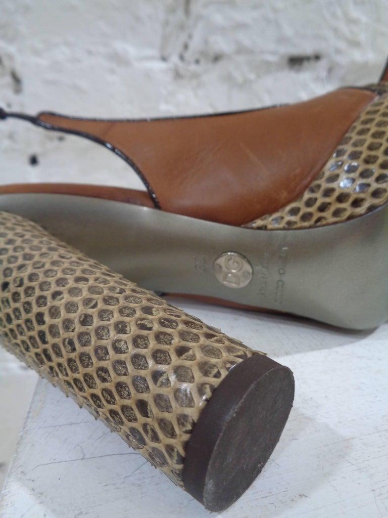 Dolce & Gabbana brown python skin sandals 5