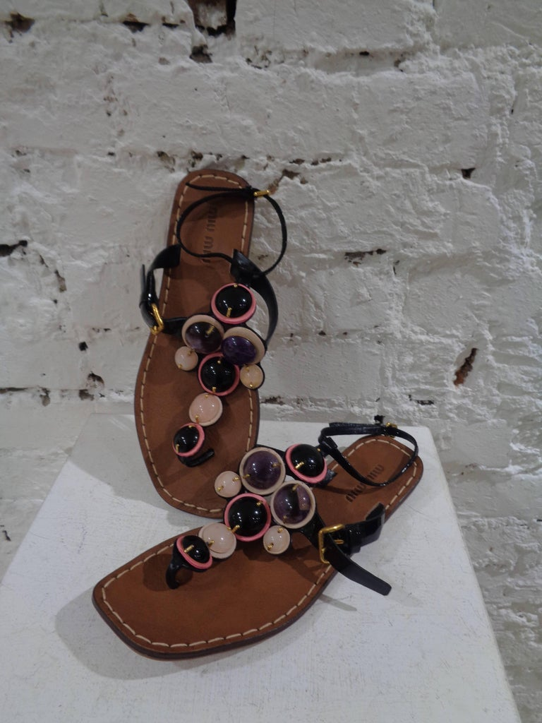Miu Miu embellished sandals  totally made in italy in size 37