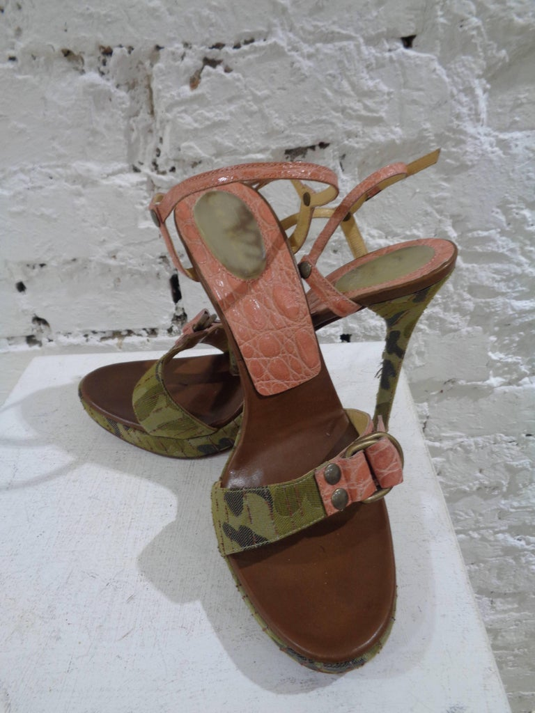 Casadei camouflage pink sandals   totally made in italy  in size 40