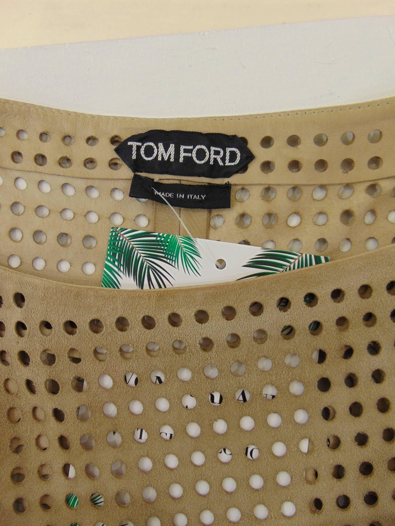 Tom Ford beije leather shirt  For Sale 1