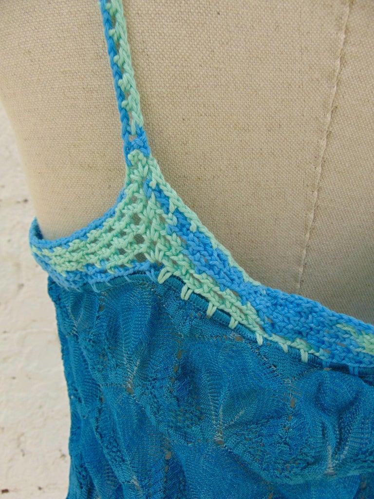 63a952a4c0a5 Missoni mare blu cotton dress In Excellent Condition For Sale In Capri