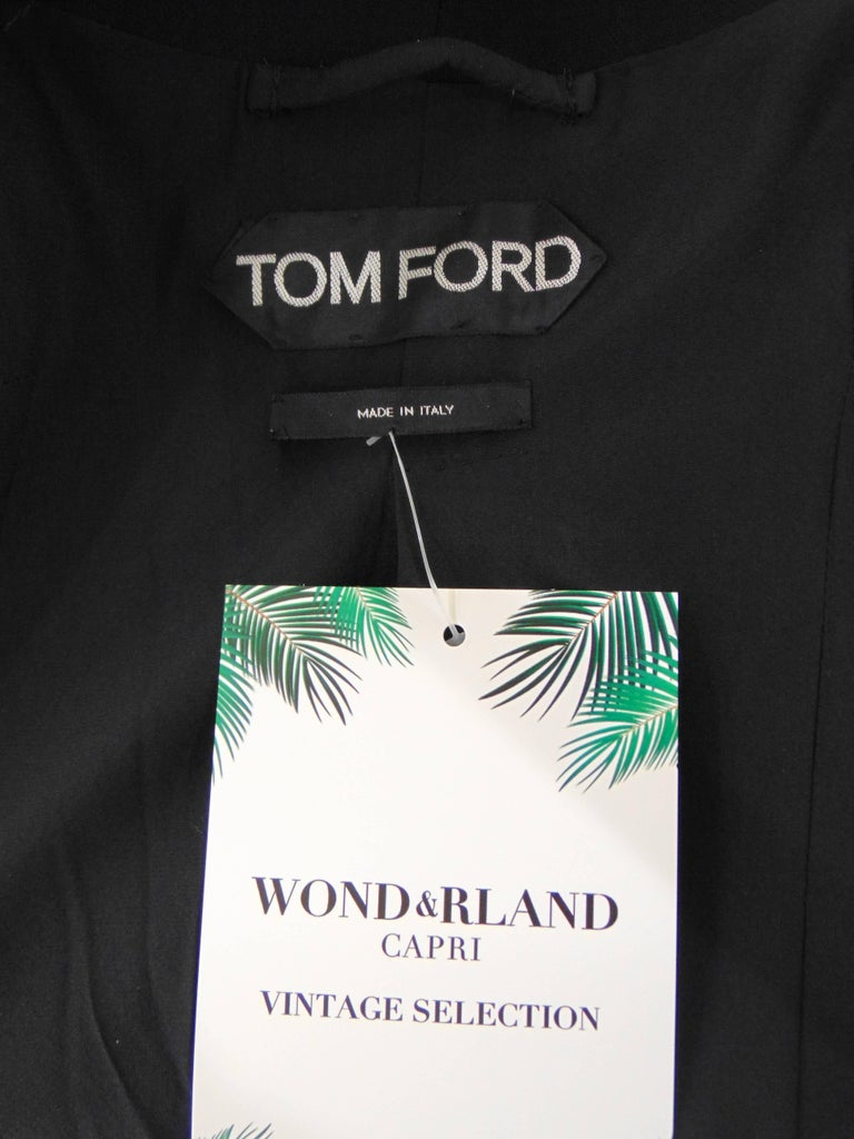 Tom Ford black cotton jacket In Excellent Condition For Sale In Capri, IT