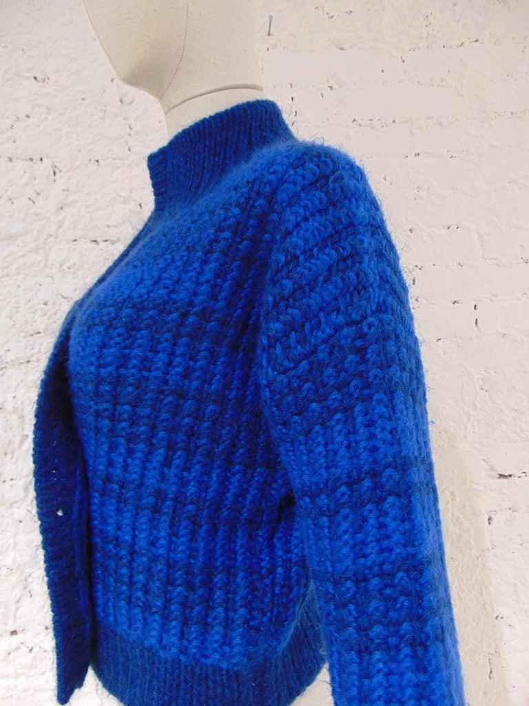 Emilio Pucci by Herwool blu cardigan  For Sale 3