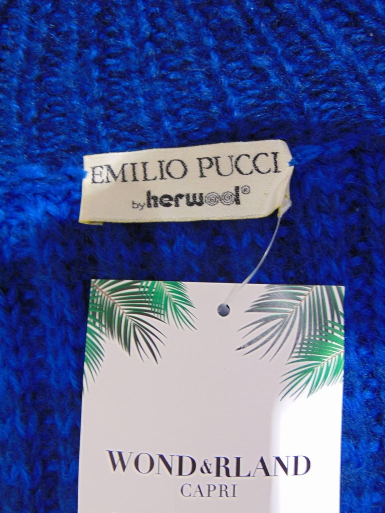Women's or Men's Emilio Pucci by Herwool blu cardigan  For Sale