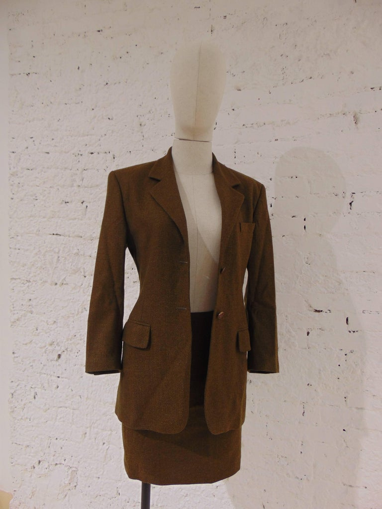 Brown Skirt Suits 12