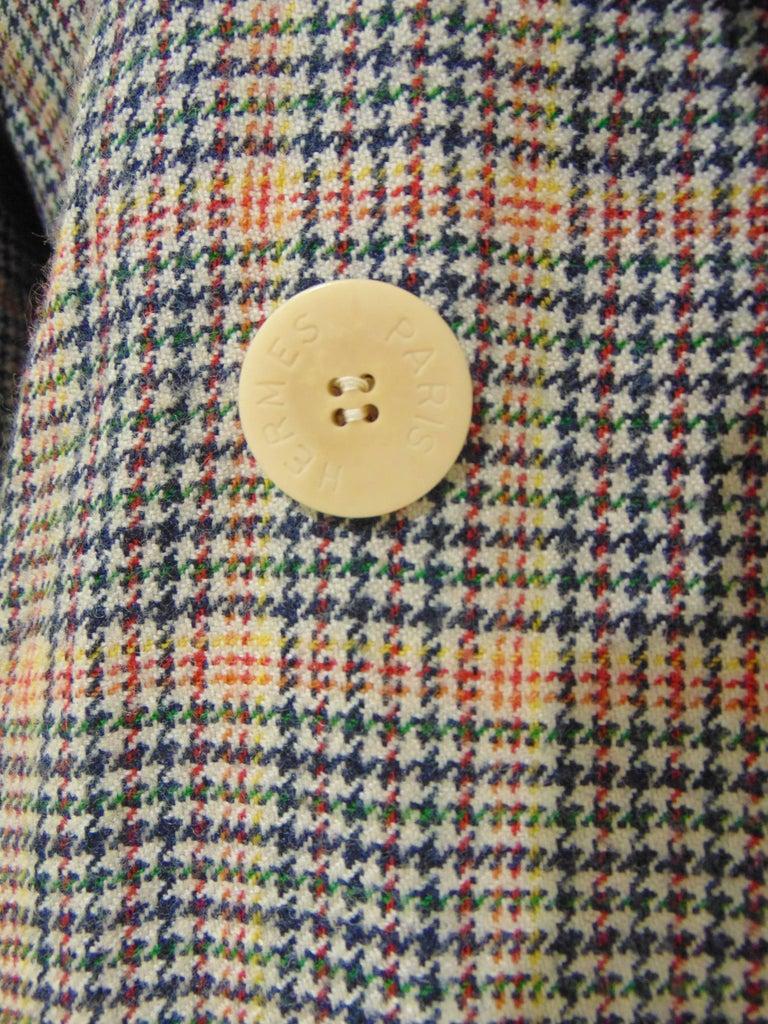 1980s Hermes multicoloured wool skirt suit For Sale 2