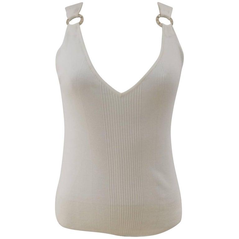 Chanel white cotton shirt