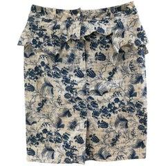 Christian Dior Boutique White Light Blue Skirt