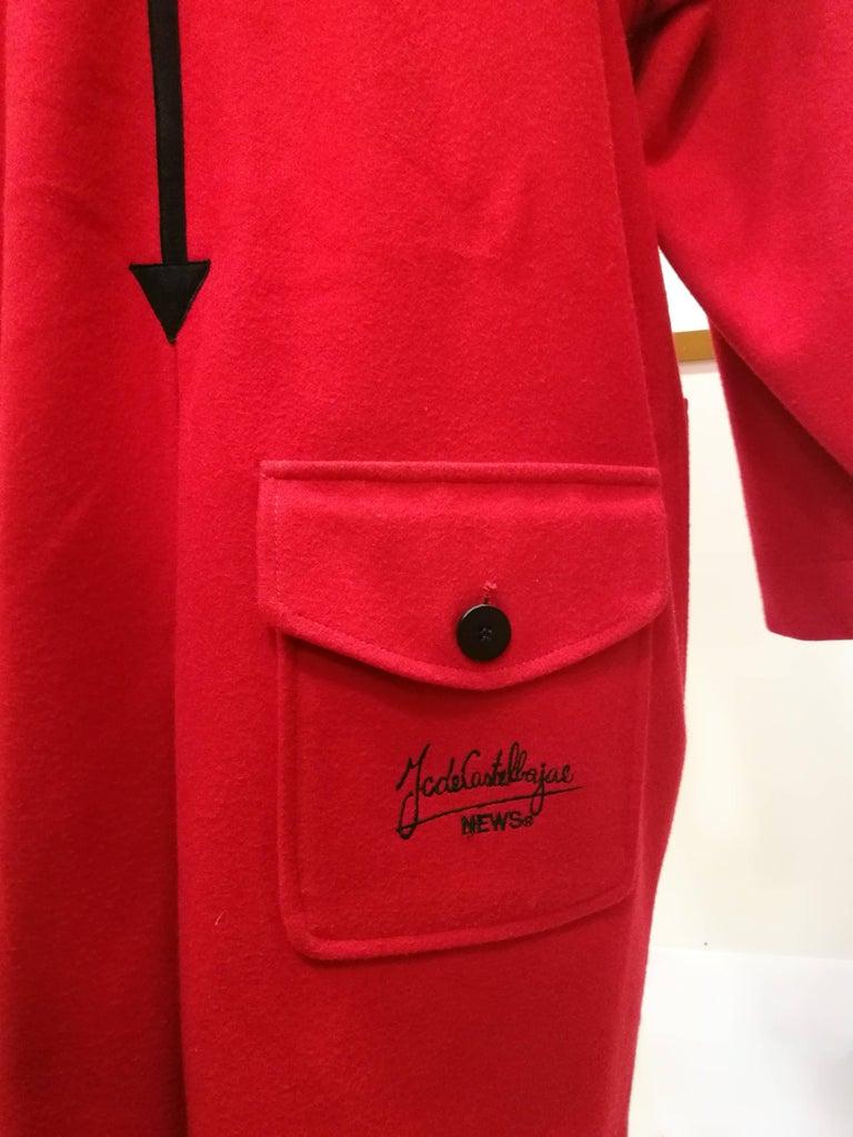 Women's Rare J.C. de Castelbajac Red Coat  For Sale