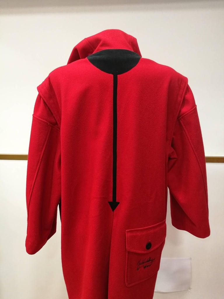 Rare J.C. de Castelbajac Red Coat  For Sale 1
