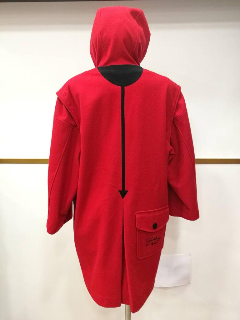 Rare J.C. de Castelbajac Red Coat  For Sale 2