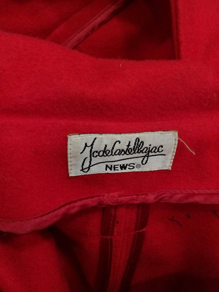 Rare J.C. de Castelbajac Red Coat  For Sale 3