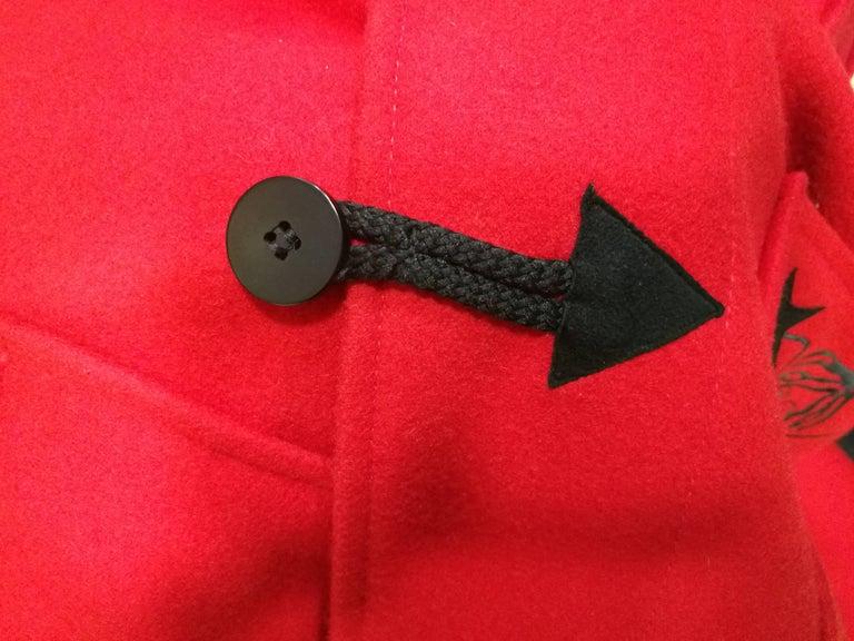 Rare J.C. de Castelbajac Red Coat  For Sale 5