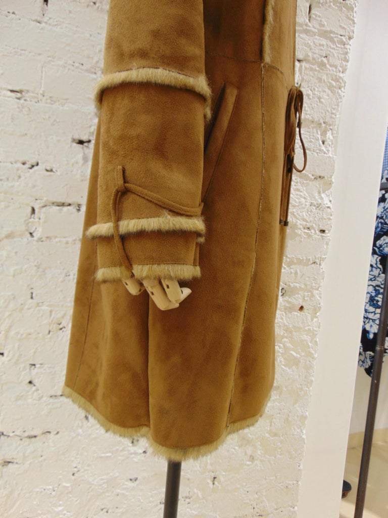 Balmain Brown Coat In Good Condition For Sale In Capri, IT