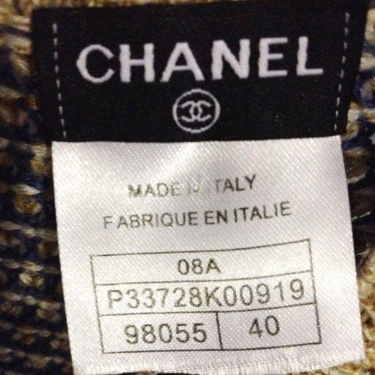 Chanel beije Blue wool dress In New Condition For Sale In Capri, IT