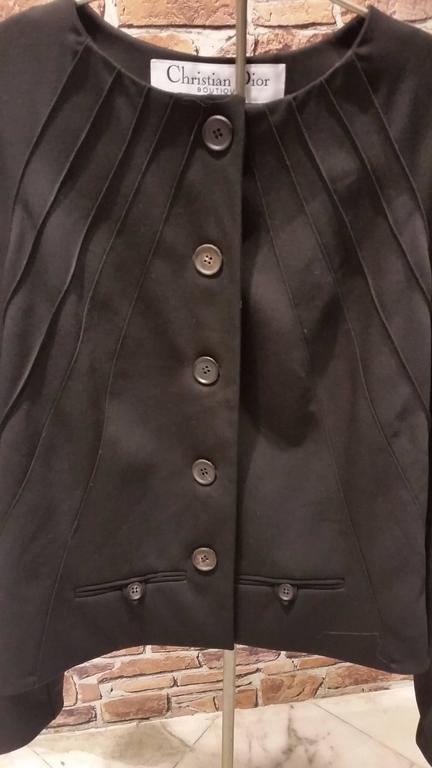 1990s Christian Dior black jacket 2
