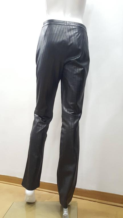 1990s Gucci Iconic Must Have black leather trousers by Tom Ford 2
