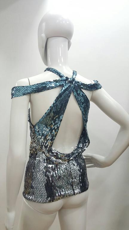 1990's Tom Ford for Gucci Haute Couture sequins top 2