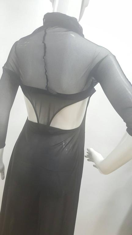 2003 Alexander McQueen Museum Piece See throught Black net Dress In New Condition For Sale In Capri, IT