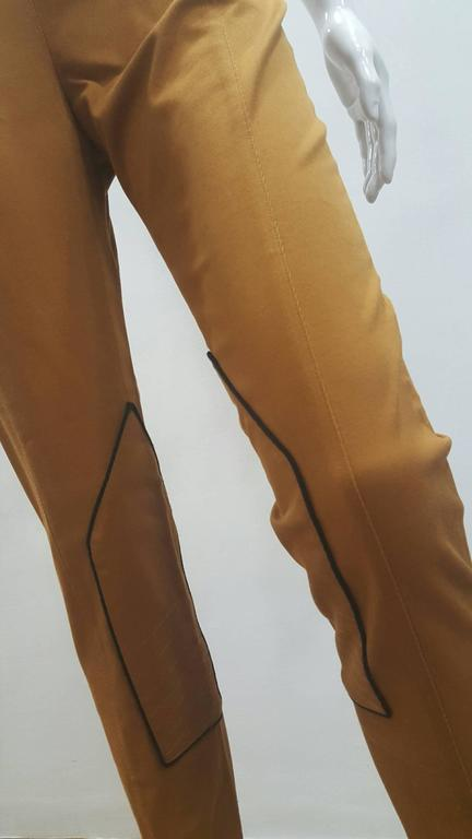 2001 Balenciaga brown pants NWOT Totally made in italy French size range 38 ITalian size range 42 composition:7% cotton 3% elastane