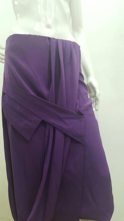 2000s Gianfranco Ferre Purple Skirt with a black zip on one side