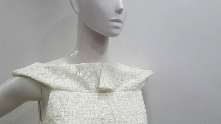 Gray 1990s Antonio Berardi White Dress For