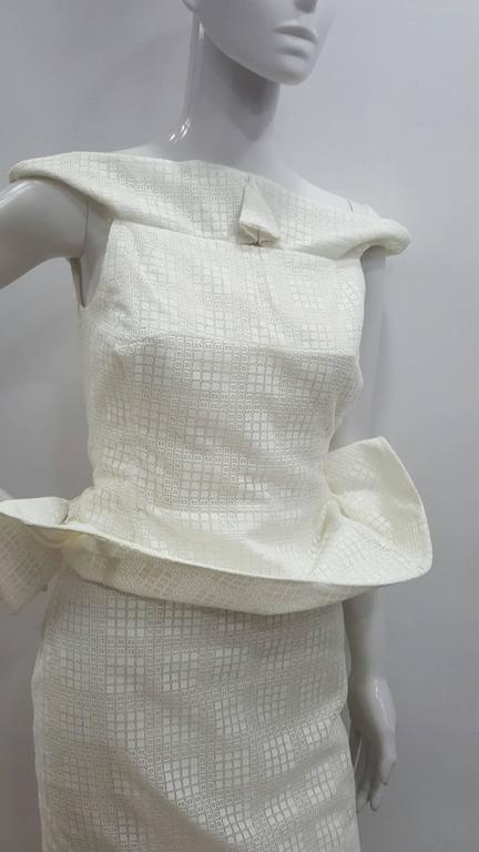 1990s Antonio Berardi White Dress In New Condition For Sale In Capri, IT