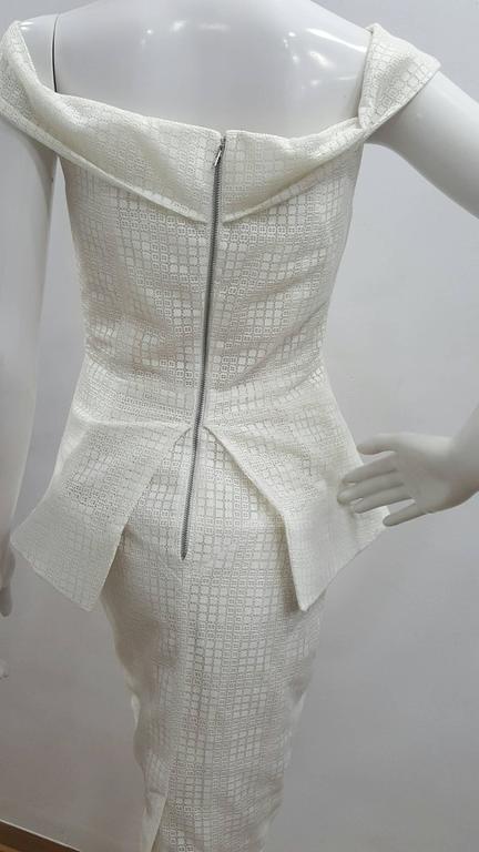 1990s Antonio Berardi White Dress For Sale 3