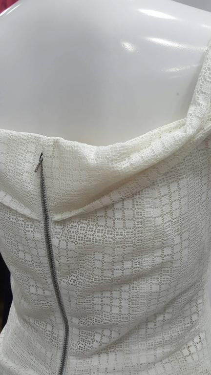 1990s Antonio Berardi White Dress For Sale 1