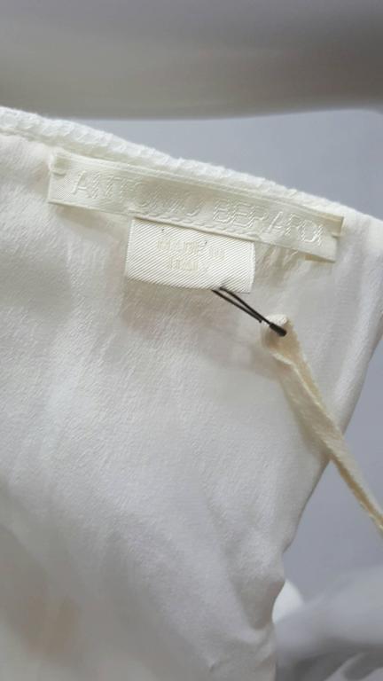 1990s Antonio Berardi White Dress For Sale 2
