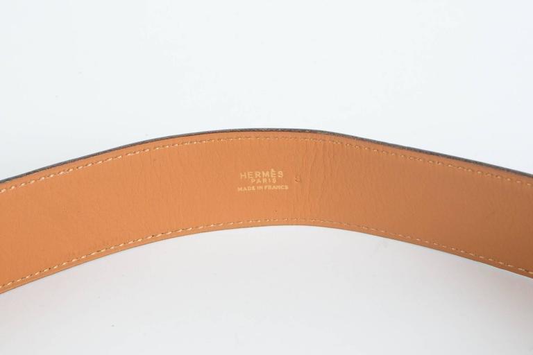 Navy Boxcalf Leather Hermès Belt 2