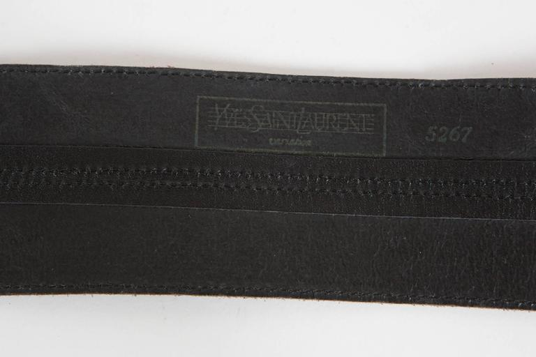 1980s Rare Saint Laurent Suede Corset Belt 2