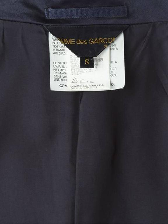 1990s Comme Des Garcons Dark Navy  Peplum Satin Jacket 2