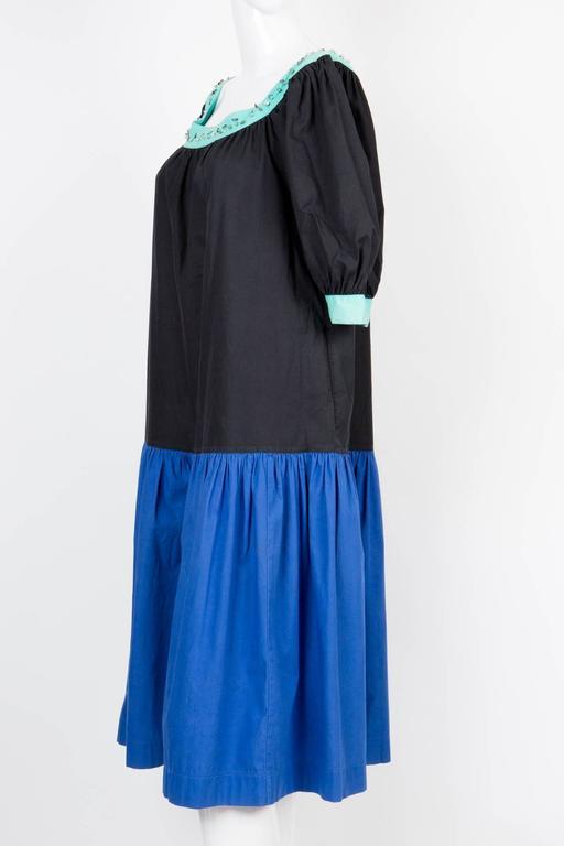 1980s Yves Saint Laurent Multico Dress 2
