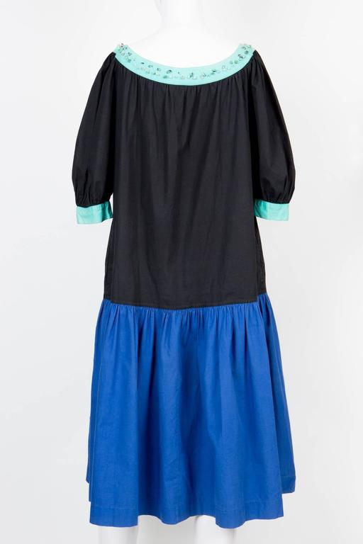1980s Yves Saint Laurent Multico Dress 3