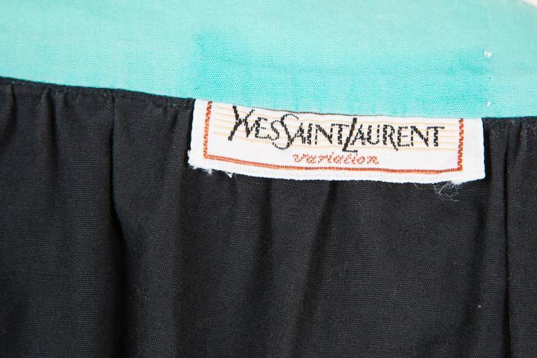 1980s Yves Saint Laurent Multico Dress 5