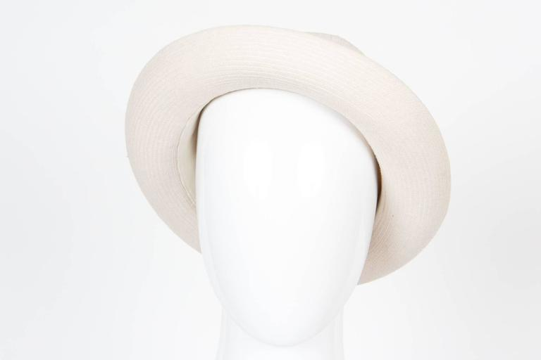 Gray Motsch Paris Summer Canvas Hat Ivory For Sale