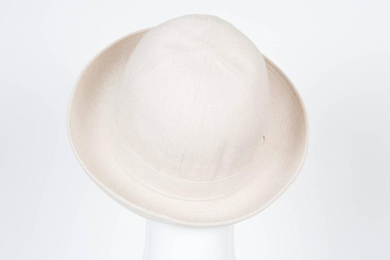 Women's or Men's Motsch Paris Summer Canvas Hat Ivory For Sale
