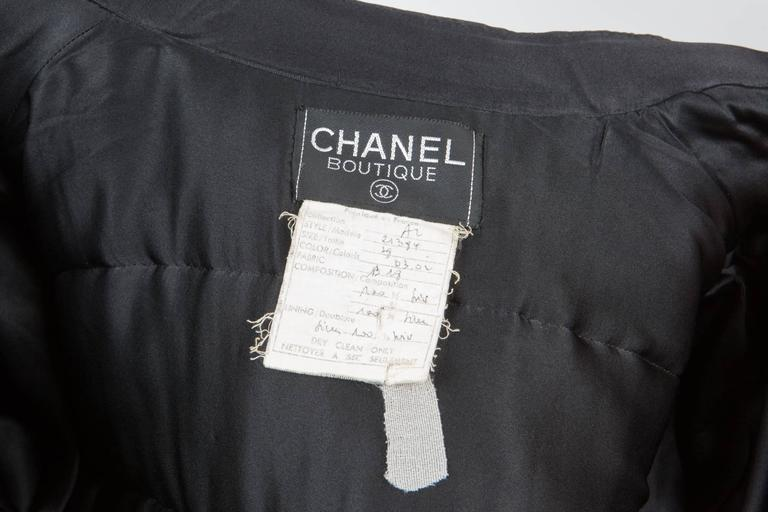 Chanel Red Padded Silk Coat  For Sale 2