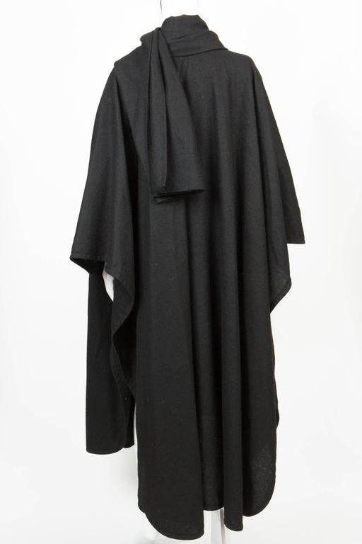 Emblematic Black Saint Laurent Wool Cape 4