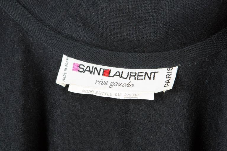 Emblematic Black Saint Laurent Wool Cape 6