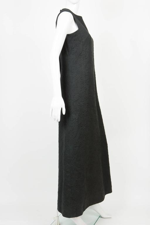 1960s Rare Black Cocktail Dress Miss Dior By Marc Bohan In Good Condition For Sale In Paris, FR