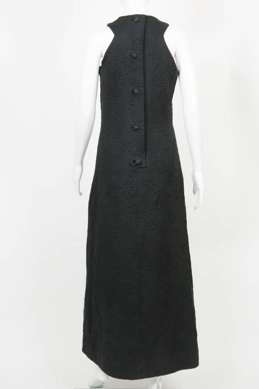 Women's 1960s Rare Black Cocktail Dress Miss Dior By Marc Bohan For Sale