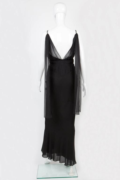Christian Dior Black Evening Dress At 1stdibs