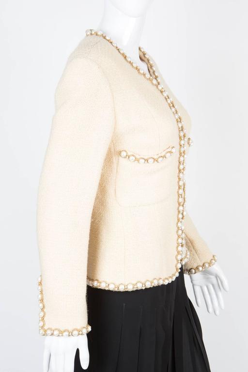 Rare Chanel Ivory Tweed Jacket 2