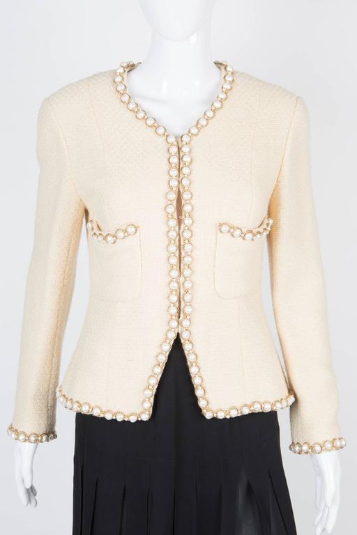 Rare Chanel Ivory Tweed Jacket 3