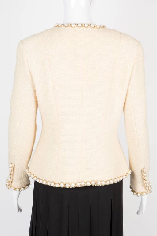 Rare Chanel Ivory Tweed Jacket 4