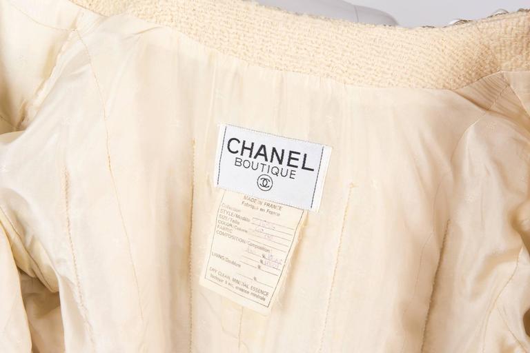 Rare Chanel Ivory Tweed Jacket 6